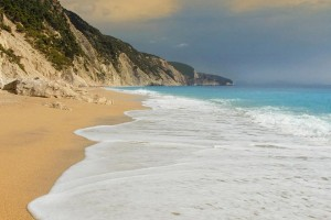 Egremni beach in Lefkada in 2nd place of the top destinations for 2015.